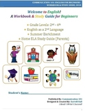 Welcome to English: A Workbook & Study Guide for Beginners