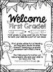 Welcome to FIRST GRADE Editable Information Packet for Parents