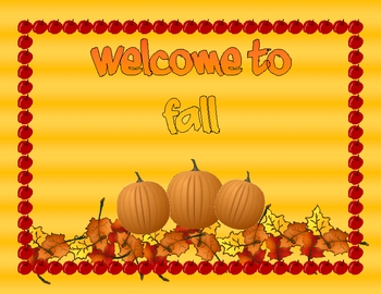 Welcome to Fall Sign