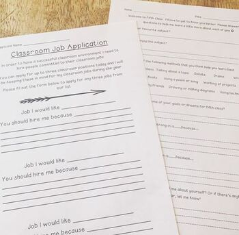 Welcome to Fifth Class Assessment Questionnaire