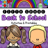 Back to School: 5th Grade Back to School Activities