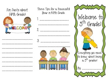 Welcome to Fifth Grade Brochure
