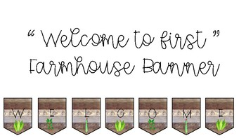 Welcome to First Farmhouse Banner