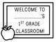 Back to School - Welcome to First Grade / Grade One Door Poster