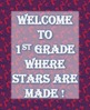Welcome to First Grade Activity