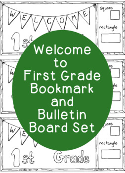 Welcome to First Grade Back to School Bookmark Printable Coloring Page PDF