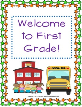 Welcome to First Grade Door Sign (Feedback is Sweet!)