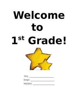 Welcome to First Grade Packet