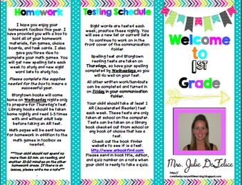 Welcome to School FREEBIE (any grade) Editable Brochure