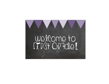 Welcome to First grade greeting card
