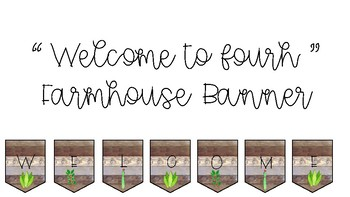 Welcome to Fourth Farmhouse Banner