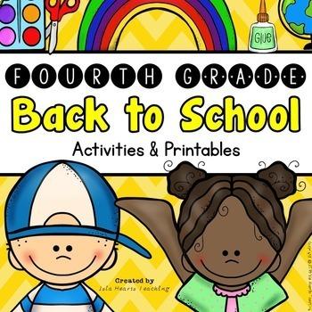 Back to School: 4th Grade Back to School Activities