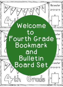 Welcome to Fourth Grade Coloring Page Bookmarks Bulletin Board Back to School