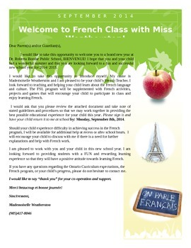 Welcome to French Class Newsletter