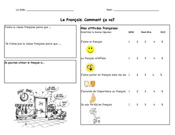 Welcome to French: French Anticipation Guide