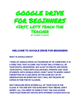 Welcome to Google Drive for Beginners