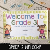 Welcome to Grade 3 - Back to School