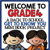 """Welcome to Grade Four: Back to School """"All About Me"""" Mini Book Project"""