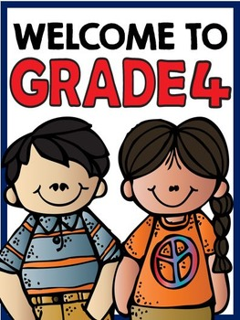 Welcome to Grade Four: Free Classroom Sign!
