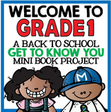 """Welcome to Grade One: Back to School """"All About Me"""" Mini Book Project"""
