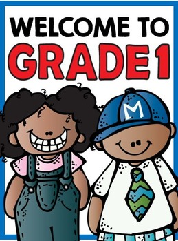 Welcome to Grade One: Free Classroom Sign!
