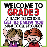 "Welcome to Grade Three: Back to School ""All About Me"" Mini Book Project"