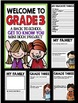 """Welcome to Grade Three: Back to School """"All About Me"""" Mini Book Project"""