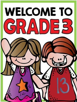 Welcome to Grade Three: Free Classroom Sign!
