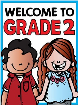Welcome to Grade Two: Free Classroom Sign!