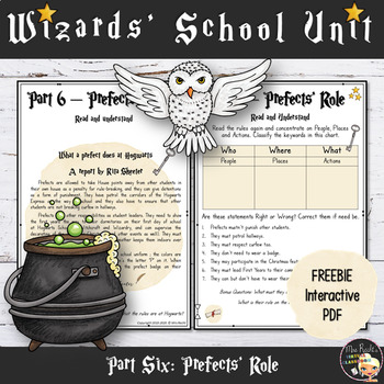 Welcome to Hogwarts - Freebie