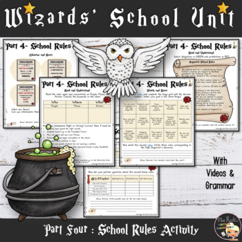 Harry Potter Unit School Rules