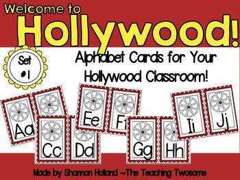 Welcome to Hollywood Alphabet Cards Set #1