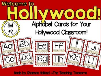 Welcome to Hollywood Alphabet Cards Set #2