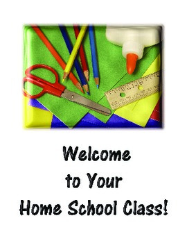 Welcome to Home School (Homeschool) Greeting Card Created to Add a Pencil, Etc.