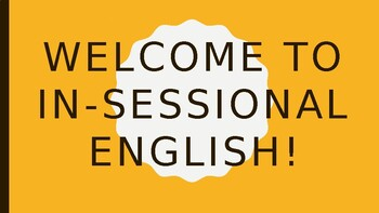 Welcome to In-sessional English