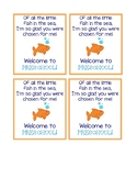 Welcome to [Insert Grade] Goldfish Gift Tags