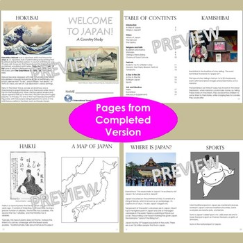 Japan - A Country Study! Mini Booklets Ready to Print with No Prep