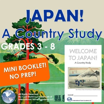Japan! A Country Study 3 - 8 Introduction - Mini Booklet Ready to Print No Prep