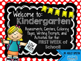 Kindergarten Beginning of the Year Activities {Welcome to Kindergarten!}