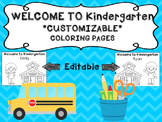 Welcome to Kindergarten Name Sheets l Back to school
