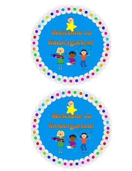 Welcome to Kindergarten Back to School Label