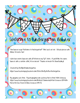 Welcome to Kindergarten Banner
