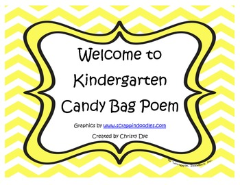 Welcome to Kindergarten Candy Bag Poem