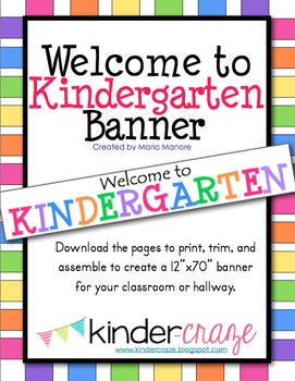 Welcome to Kindergarten Classroom Banner