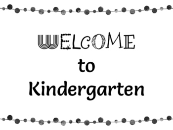 FREEBIE! Welcome to Kindergarten Colored Posters