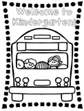 Welcome To Kindergarten Coloring Page Teaching Resources | Teachers ...