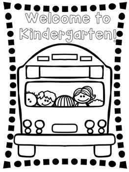 Welcome to Kindergarten Coloring Page by Corinne Tiesi | TpT