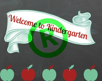 Welcome to Kindergarten Cover Page
