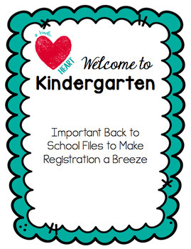 Welcome to Kindergarten EDITABLE