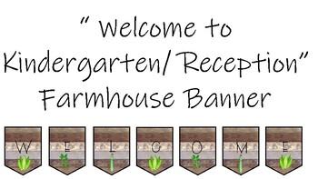Welcome to Kindergarten Farmhouse Banner